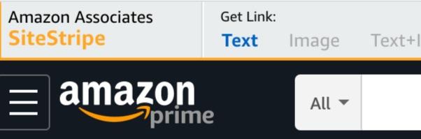 Amazon SiteStripe Natural Kaos