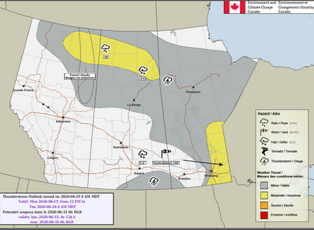 Severe thunderstorm watches issued for SE Manitoba