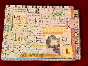 """""""L"""" page in my ABC Bible Quilt journal"""