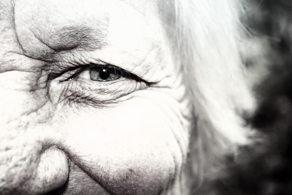 Old lady knows secret legends about Makarska Riviera in Croatia