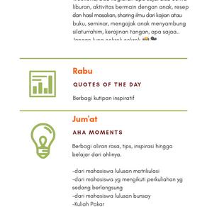 Agenda Rutin WAG HIMA IIP Payakumbuh-LK