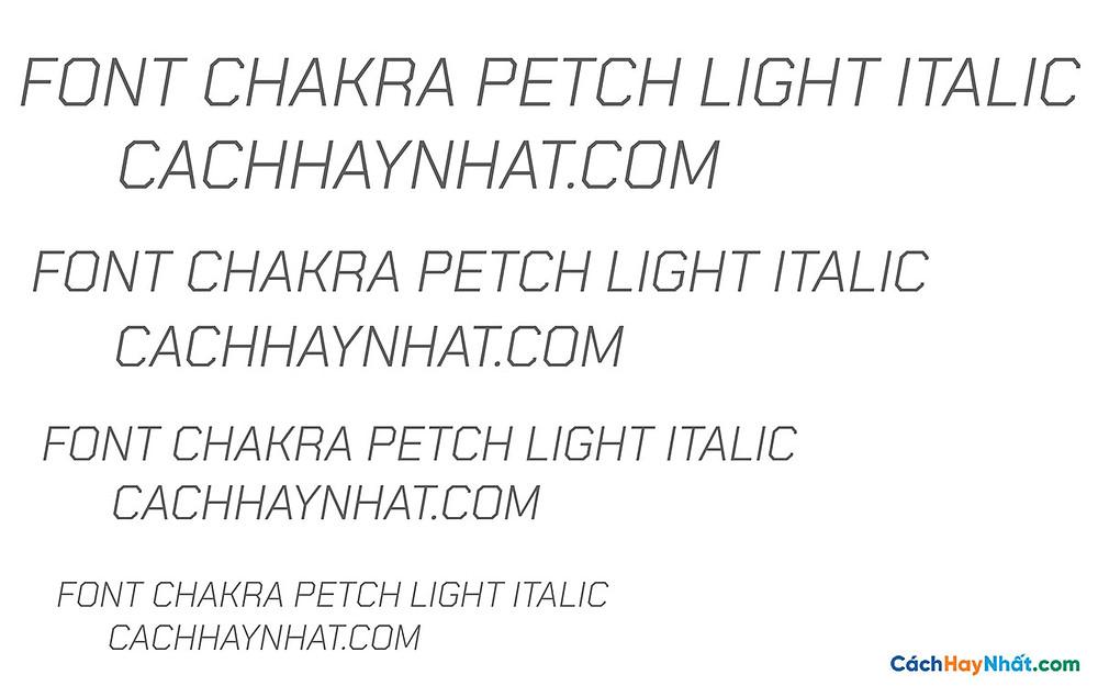 Font Chakra Petch Light Ilatic