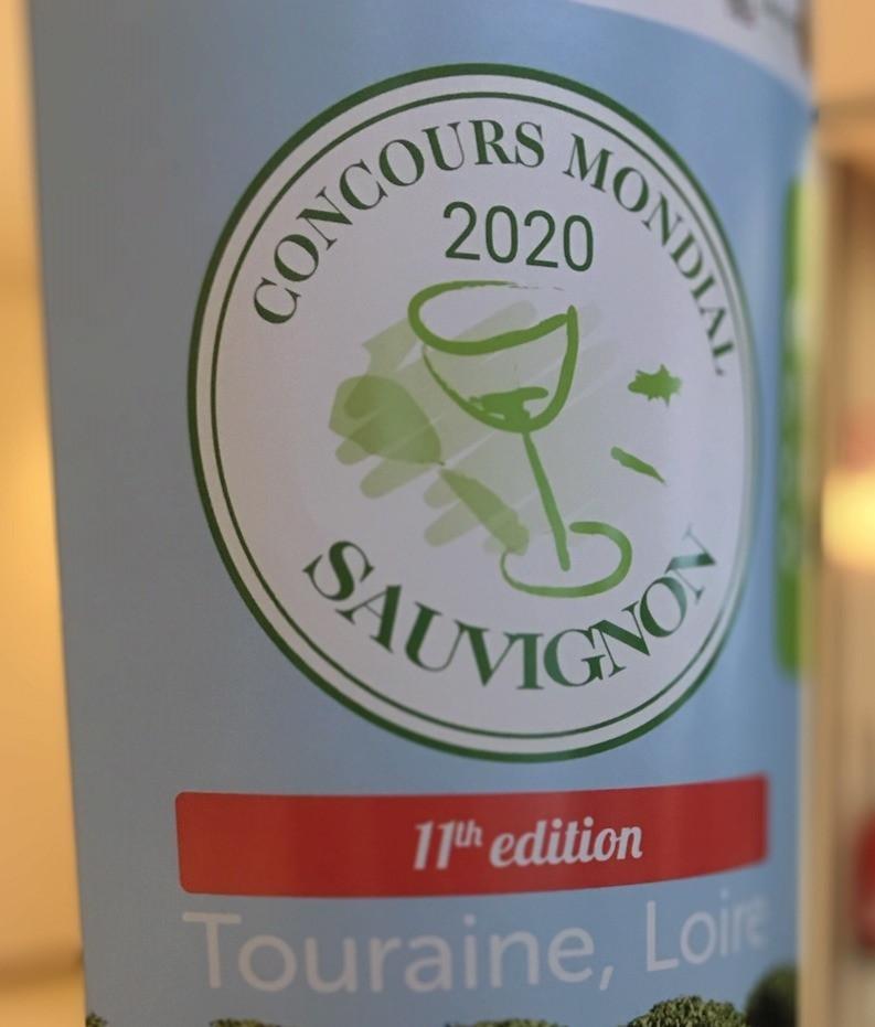 Panneau de bienvenue au Concours Mondial du Sauvignon en Touraine