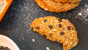 Eggless Oats-Chocolate Chip Cookies