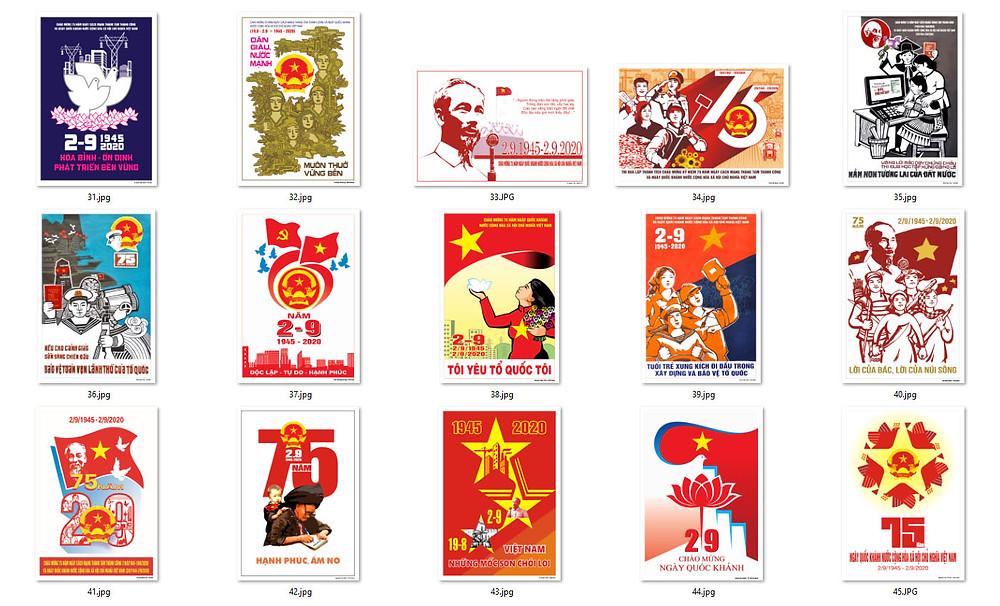 Bộ Tranh Cổ Động 75 Năm Cách Mạng Tháng Tám và Quốc Khánh 2-9 Chất Lượng Cao Part03