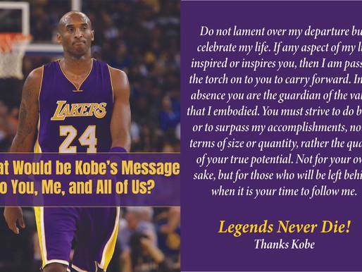 Legends Never Die! Thanks Kobe