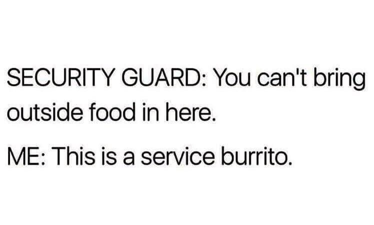 Service Burrito Meme
