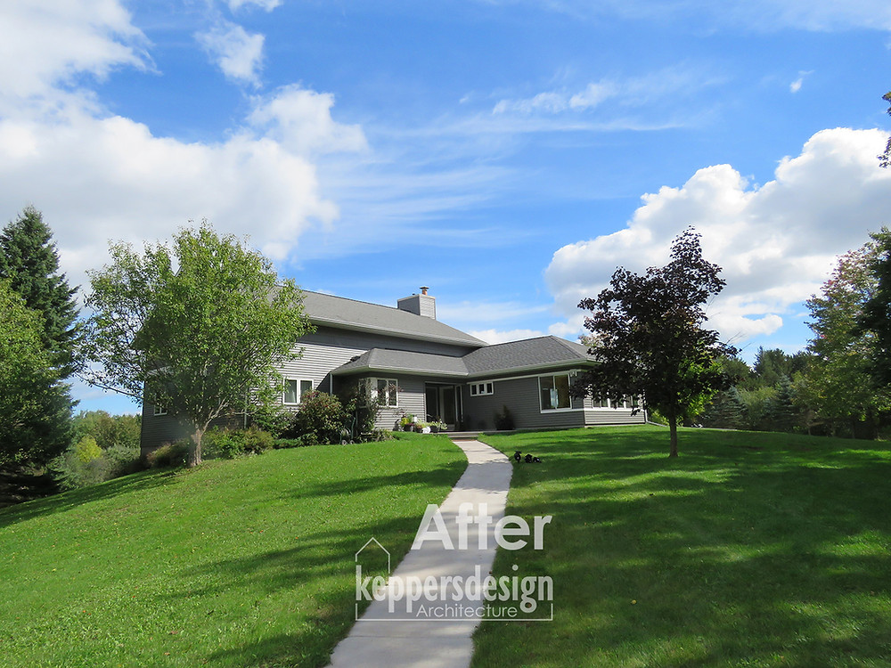 AFTER - Home remodeled and added to by Keppers Design