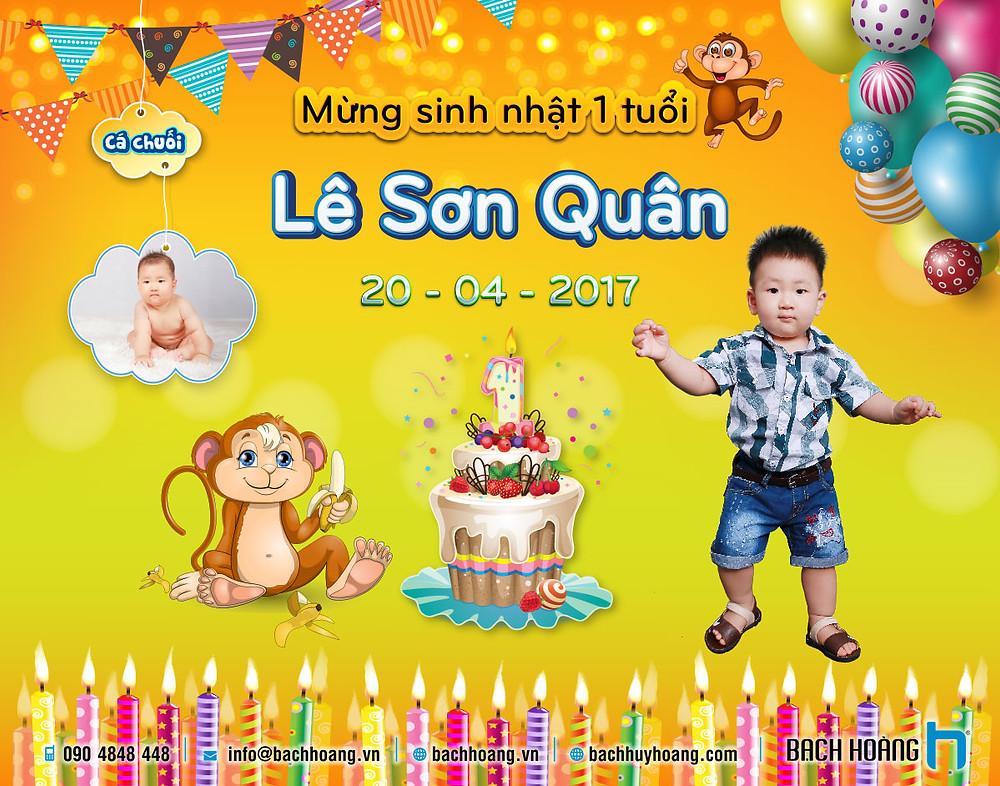 Mẫu Backdrop Phông Sinh Nhật Đẹp - Happy Birthday Backdrop