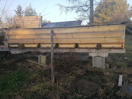 Winterruhe am Bienenstand