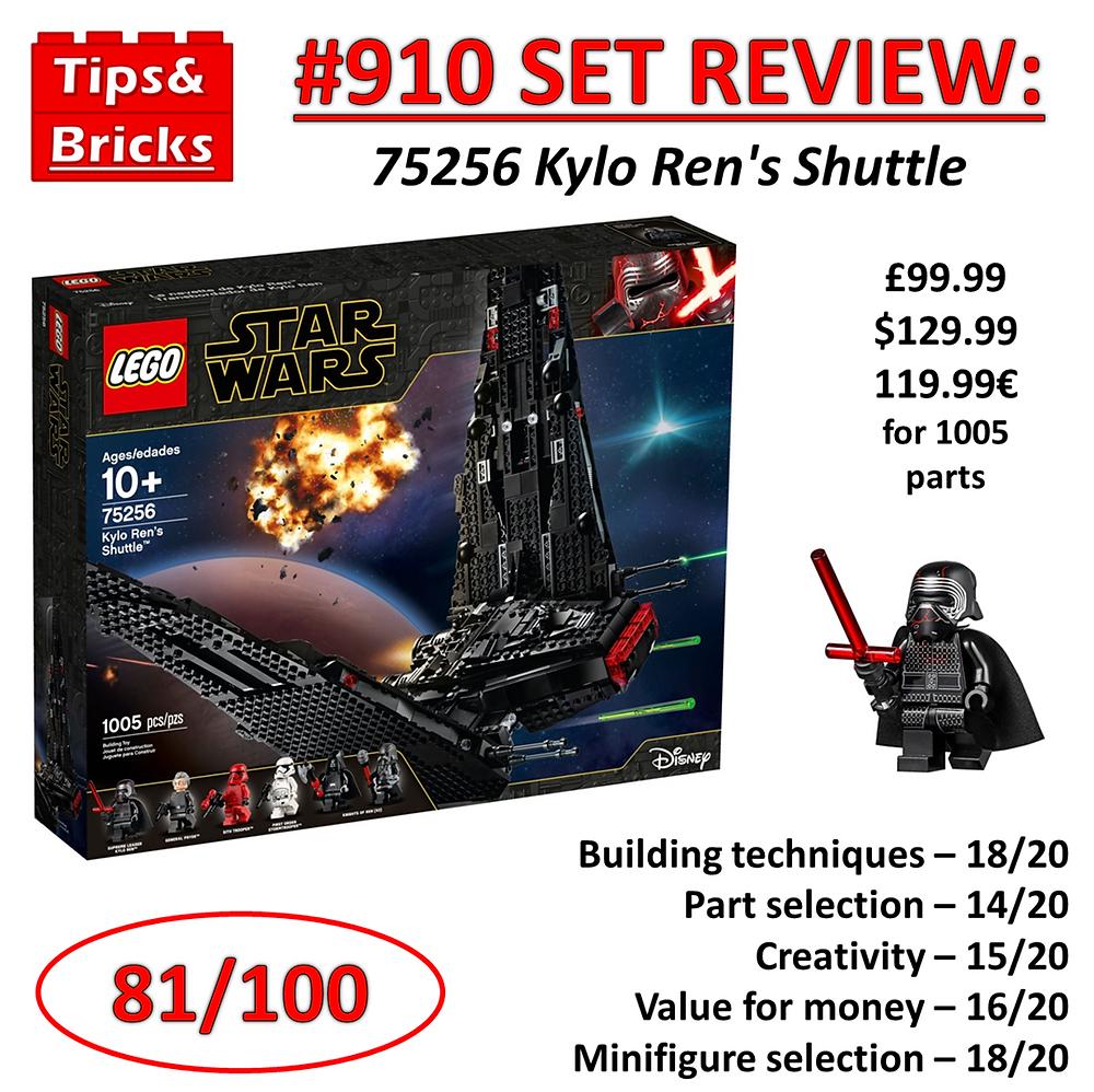 910 Set Review 75256 Kylo Ren S Shuttle