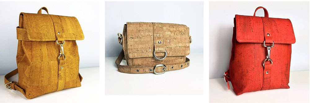 The Freeload cork accessories collection, made in the UK