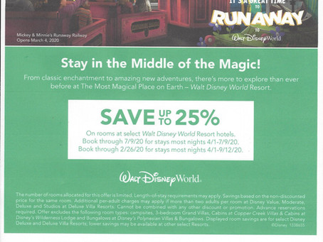 Late Spring & Summer Room Offers - WDW
