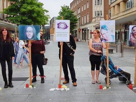 A vigil for the lost women of Exeter.