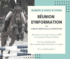 Equitation, organisation de concours
