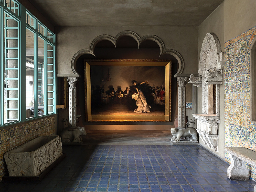 the Spanish Cloister, with John Singer Sargent's El Jaleo