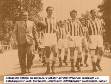 1947 - 1962: Gründungsjahre TSV Durach