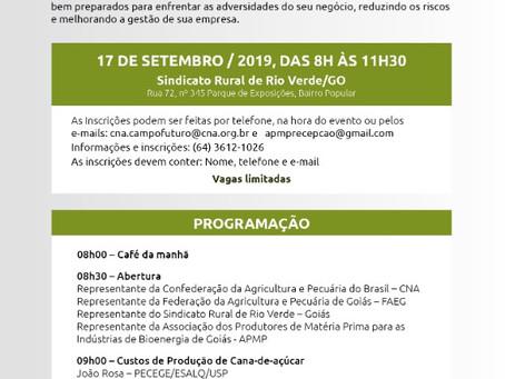 CNA, FAEG, SINDICATO RURAL E APMP REALIZAM DIA DE MERCADO DE CANA-DE-AÇÚCAR