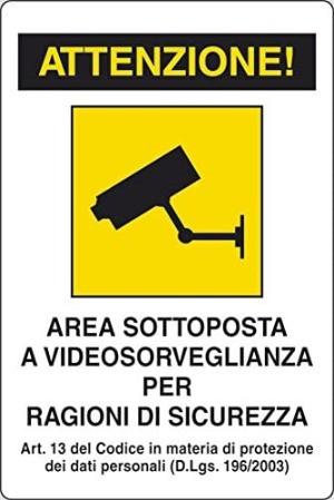 cartello videosorveglianza non a norma GDPR