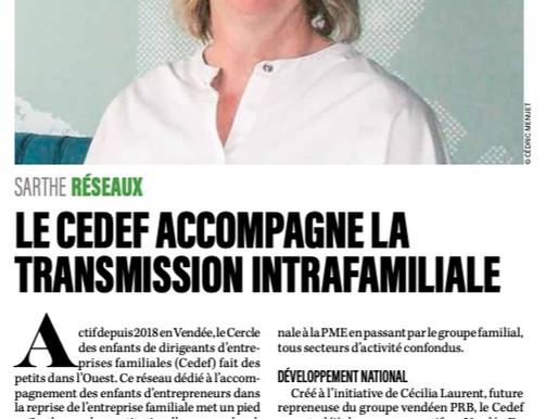 On parle du CEDEF dans le JDE Maine-et-Loire de novembre 2020