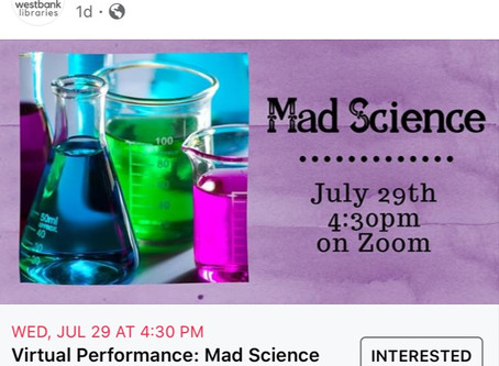 Mad Science on Zoom from Westbank