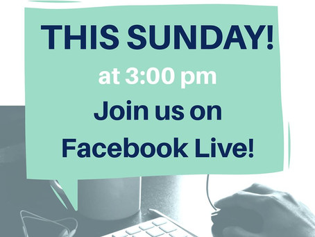 Join us on Facebook Live!