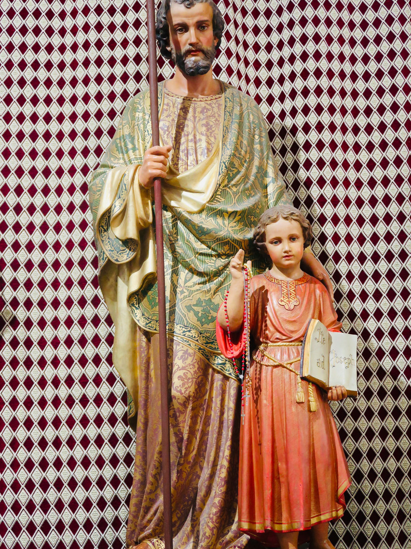 Many places and churches are named after St. Joseph.