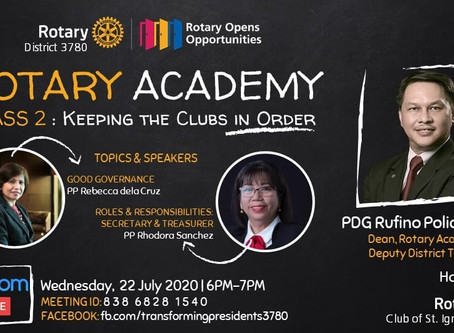 Rotary Academy Class 2: Keeping the Clubs in Order