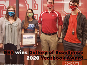 GHS Wins Gallery of Excellence 2020 Yearbook Award