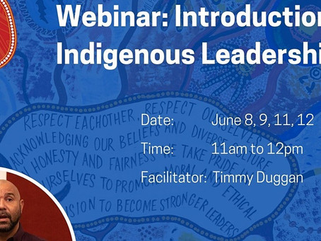 Introduction to Indigenous Leadership Webinar