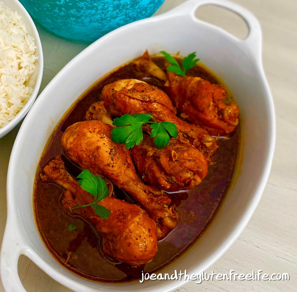 A delicious and easy to make traditional stewed chicken dish from the Philippines!