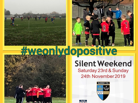 Round up 24th November - Silent Weekend