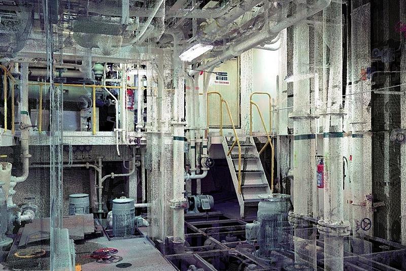 Escaneo láser de Sistemas de tratamiento de agua de lastre de barcos (BWT)