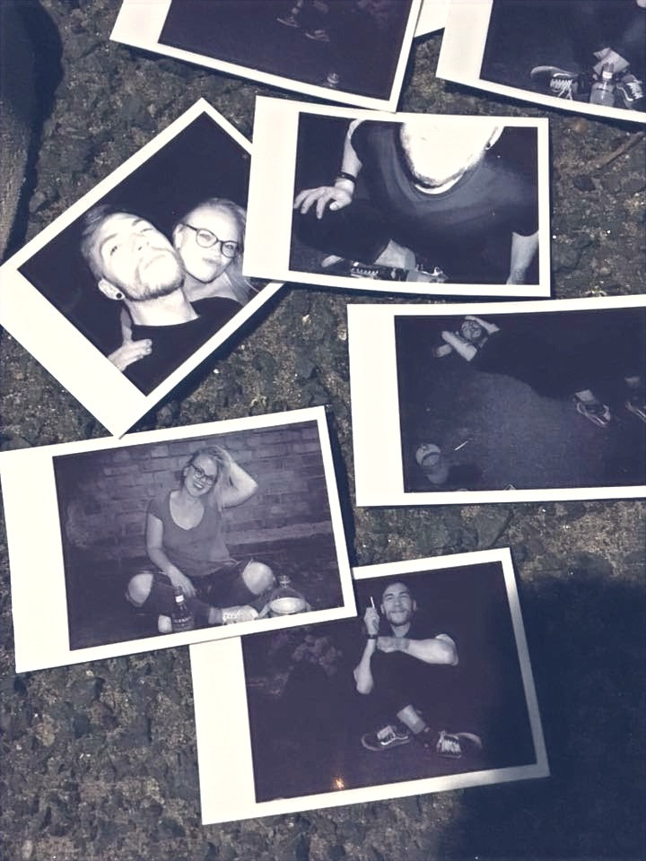 night out london polaroid friends