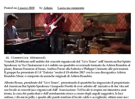 Live review (Italy) in Aroundeventi