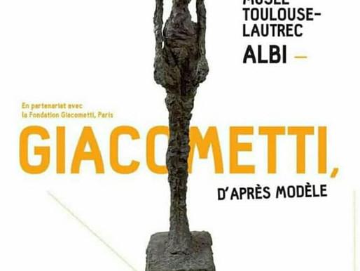 Exposition Giacometti au musée Toulouse Lautrec à Albi du 16 mars au 30 juin 2019