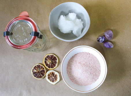 Full Moon in Aquarius Salt Body Scrub