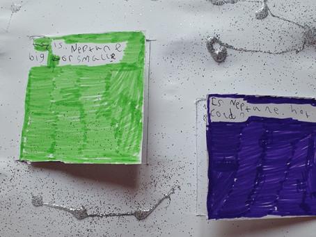 Scarlett's super Space flap book!