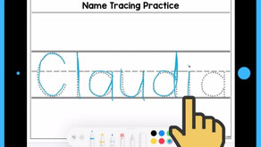 Simple Name Tracing Practice Activity for Kids on iPad