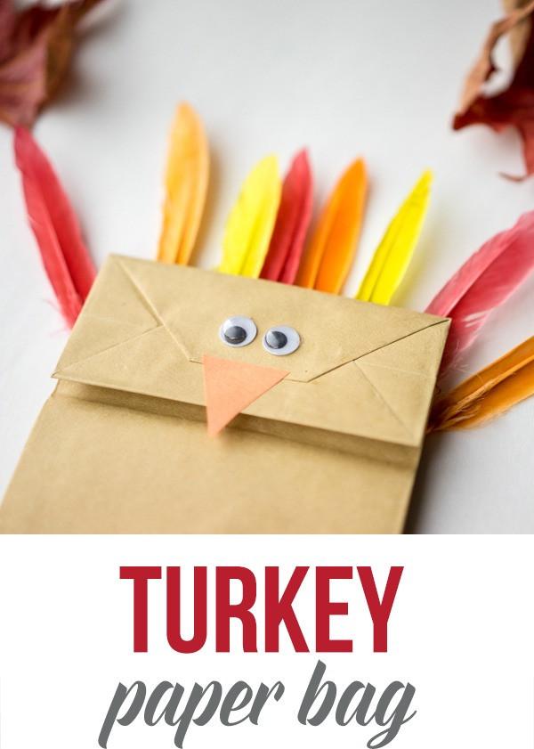 paper bag turkey craft activity