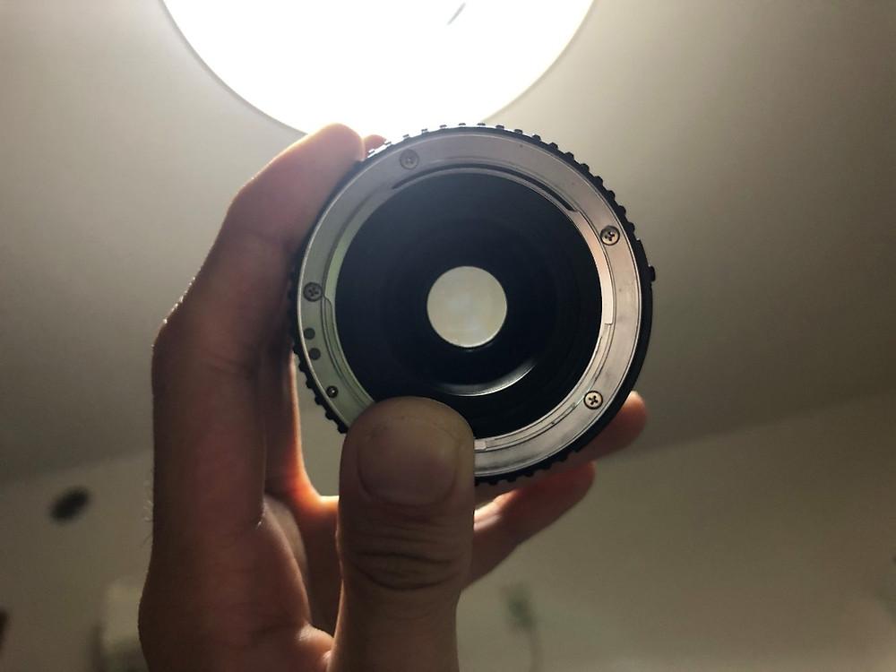 レンズのカビの確認方法