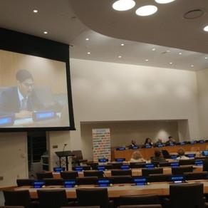 유엔본부 ISEA '고위급기술금융위원회 생존머니 블럭체인 발표' (보도자료)