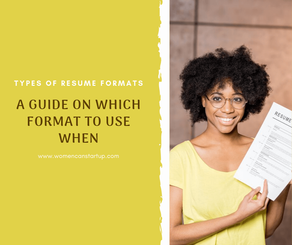 5 types of resume formats and when to use them