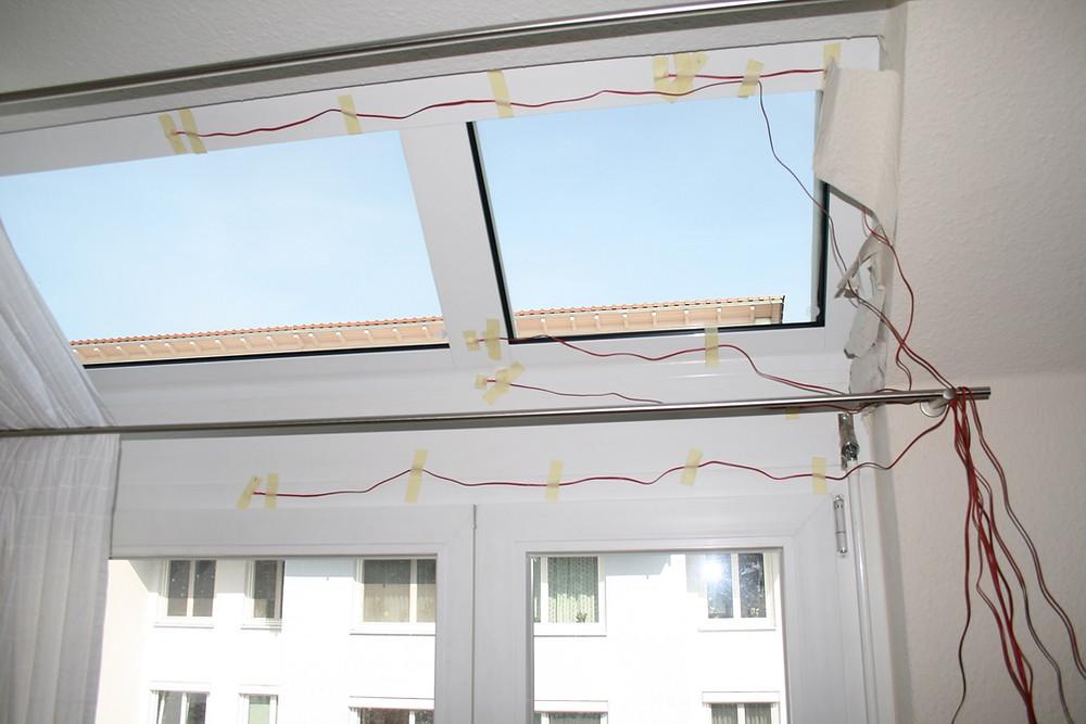 An dem Dachfenster waren häufig an der Innenseite Tropfenbildungen aufgetreten.
