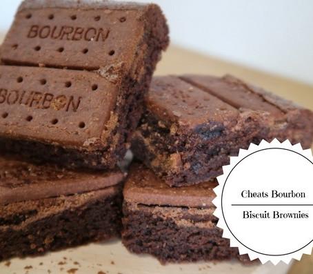 Cheats Bourbon Biscuit Brownies...