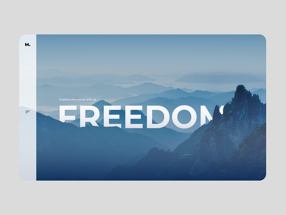 Freedom Travel Home Page UI Design
