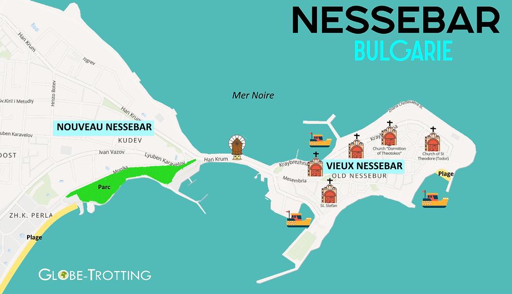 Plan Ville de Nessebar