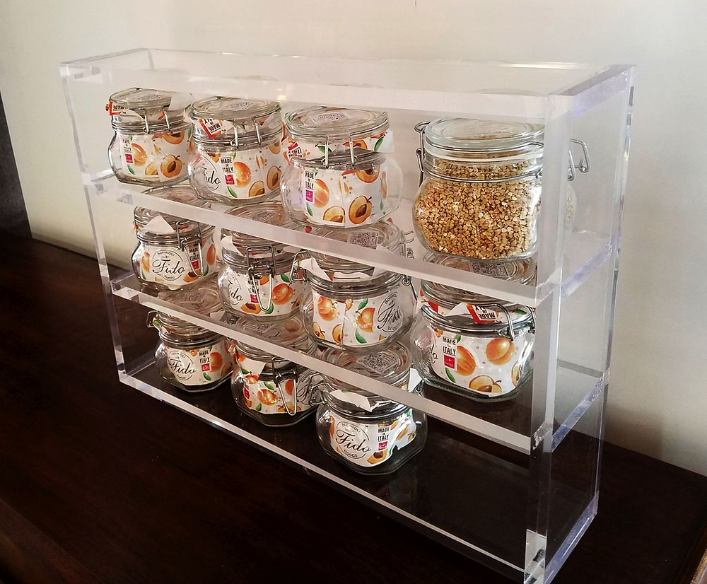 acrylic rack for food canisters