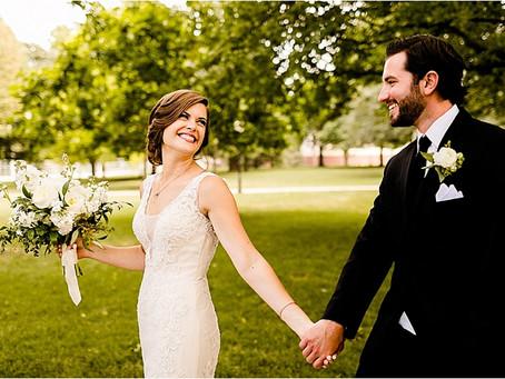 Jennifer + Kyle's Elegant Black & White Wedding in Illinois!