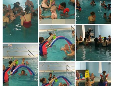 Aqua babies loving the pool